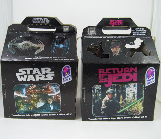 STAR WARS Taco Bell Kids Meal Premium Toy Set RARE 1996